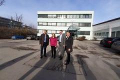 Houdek Brüder, Eva John 1. Bürgermeisterin, Christoph Winkelkötter stellen neues Entwicklungskonzept fürs Gewerbegebiet Starnberg vor