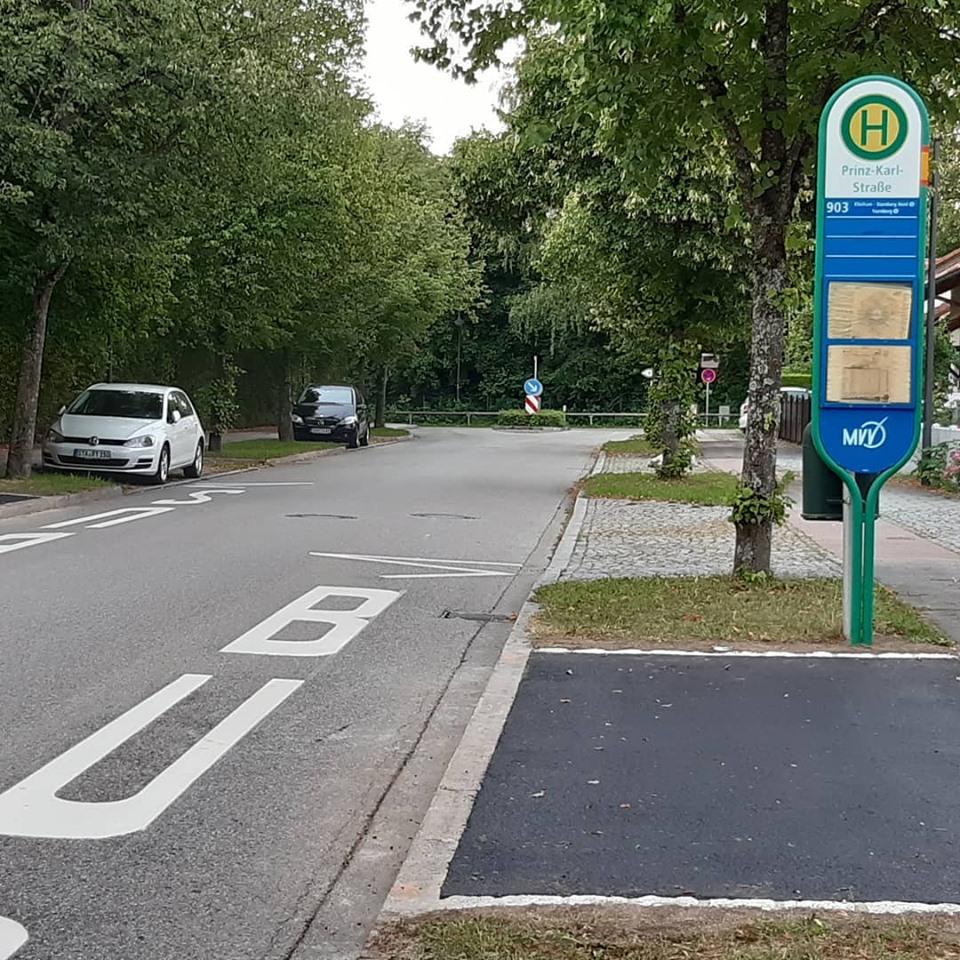 Bushaltestelle Prinz-Karl-Straße asphaltiert